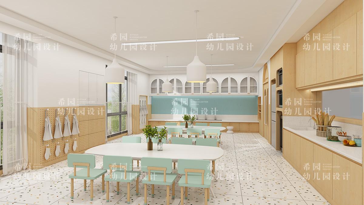 温馨精致的幼儿园小厨房如何设计