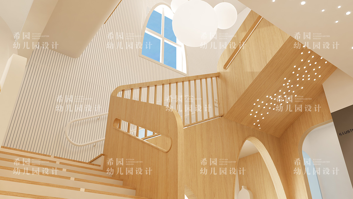 幼儿园楼梯设计如何教育趣味两不误